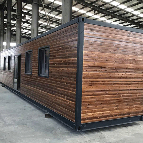 40' Studio Container w/ Surrounding Wood Features