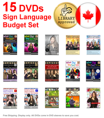 15 DVD Sign Language Budget Set - Free Shipping for Canada Only