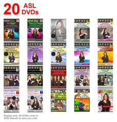 20-Piece ASL DVDs with FREE Shipping