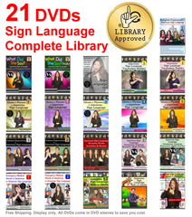 21 DVD Sign Language Complete Library - Free Shipping