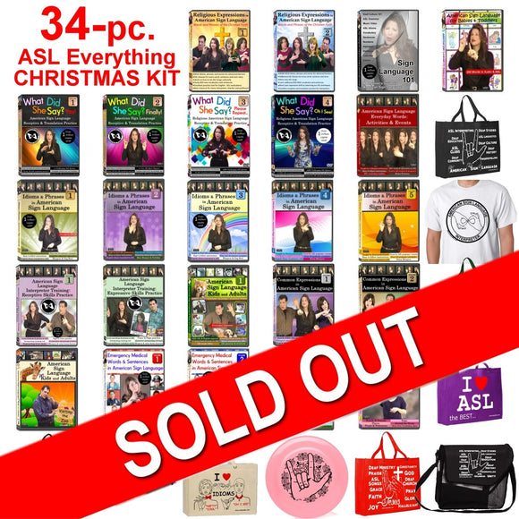 34-Piece ASL Everything CHRISTMAS KIT - FREE S&H - LAST DAY!