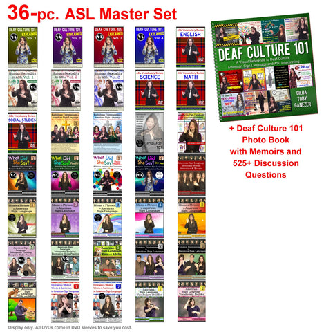 NEW! 36-Piece ASL Master Set with Free Shipping