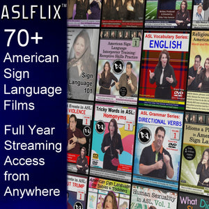 Online Access to over 70 ASL Films at ASLFLIX™ - Full Year Gold Membership