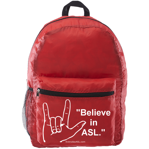 NEW American Sign Language Backpack
