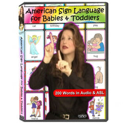 American Sign Language for Babies & Toddlers DVD in DVD CASE