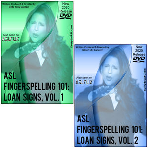 Brand New for 2020! 2-DVD Set - ASL Fingerspelling 101: Loan Signs, Vol. 1-2