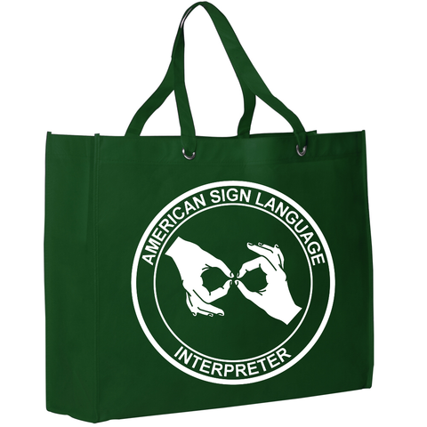 ASL Interpreter Tote - Get Recognized by the Deaf World and ASL Community - free S&H!