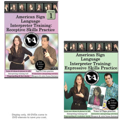 American Sign Language Interpreter Training: Receptive & Expressive Skills Practice Set, Vol. 1 (2 DVDs)