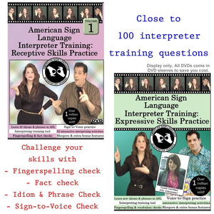 ASL Interpreter Training: Receptive & Expressive Skills Practice Set, Vol. 1 (2 DVDs)
