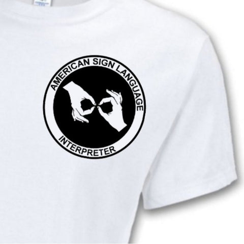 American Sign Language Interpreter Logo T-Shirt