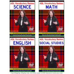 A Choice of ASL Vocabulary Series: SCIENCE, MATH, ENGLISH & SOCIAL STUDIES