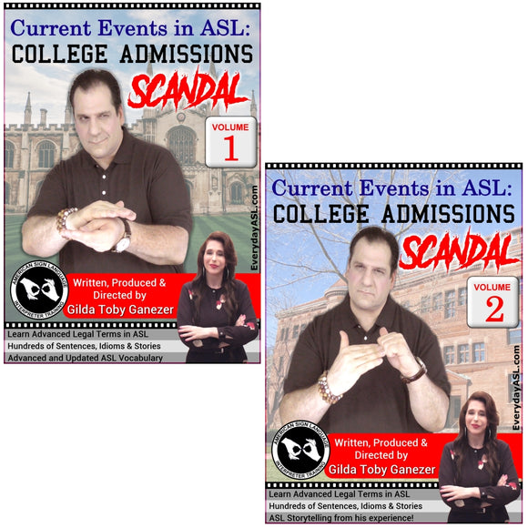 Brand New 2-DVD Set - Current Events in ASL: College Admissions Scandal Vol. 1-2
