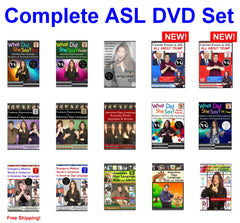 Complete ASL DVD Set - Free Shipping