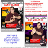 New 2-DVD Set - ASL Current Event: GUN VIOLENCE, Vol. 1-2
