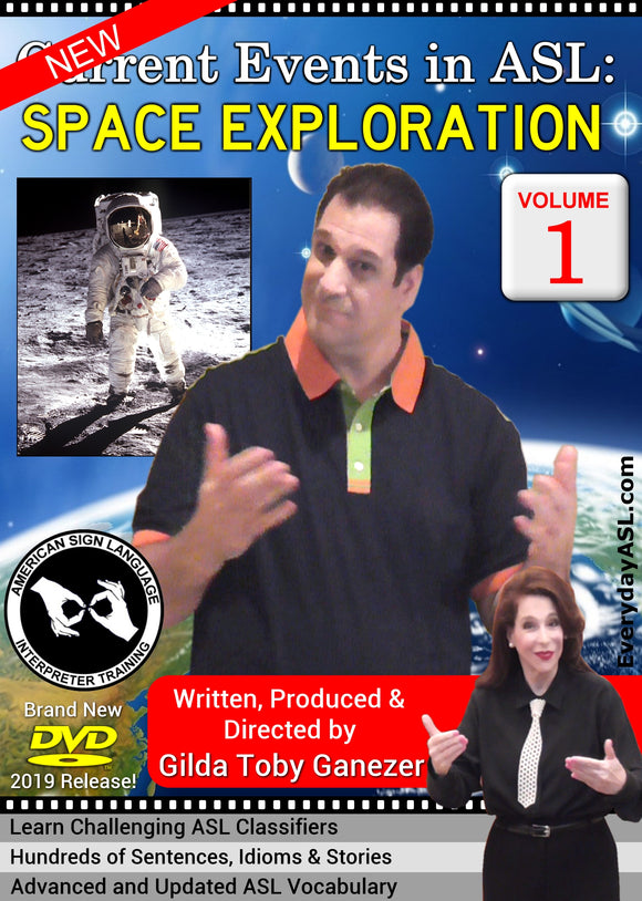 New DVD - Current Events in ASL: Space Exploration, Vol. 1 with FREE S&H