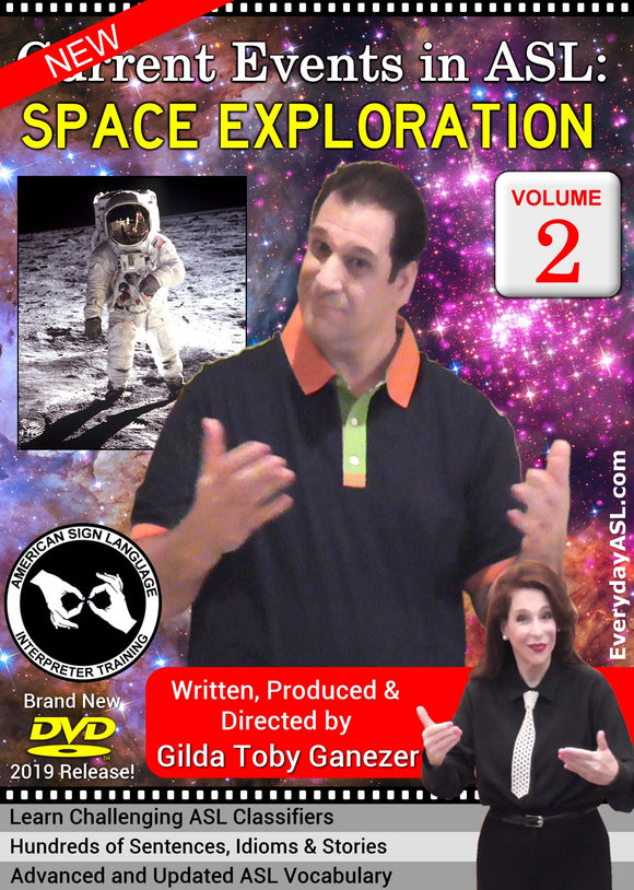 New DVD - Current Events in ASL: Space Exploration, Vol. 2 with FREE S&H