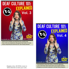 2-DVD Set - Deaf Culture 101: Explained, Vol. 3-4