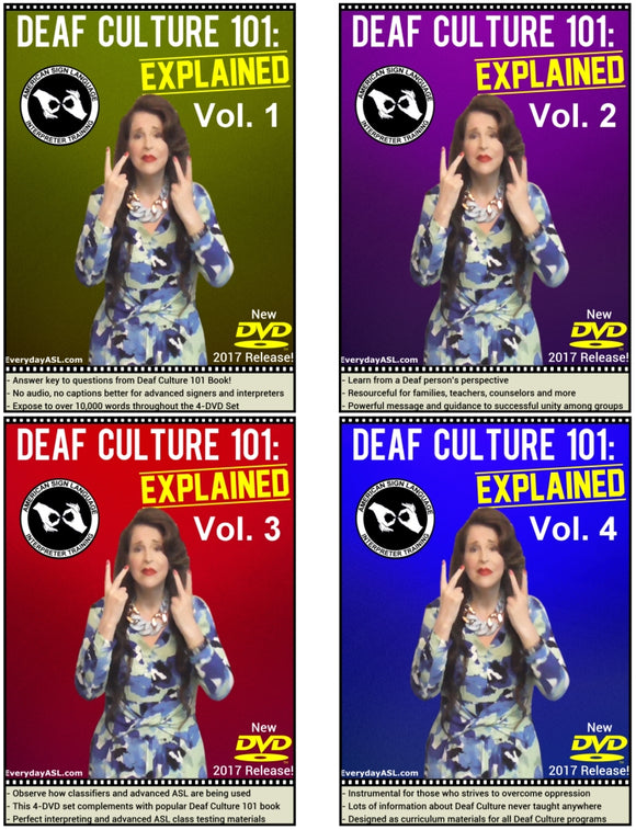 4-DVD Set - Deaf Culture 101: Explained, Vol. 1-4