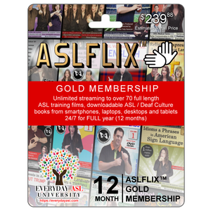 Access to ALL 70 ASL Films and Books online with ASLFLIX™