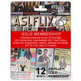 FREE Choice of T-Shirt or Lunch Cooler with membership to ALL 70 ASL Films and Books online with ASLFLIX™