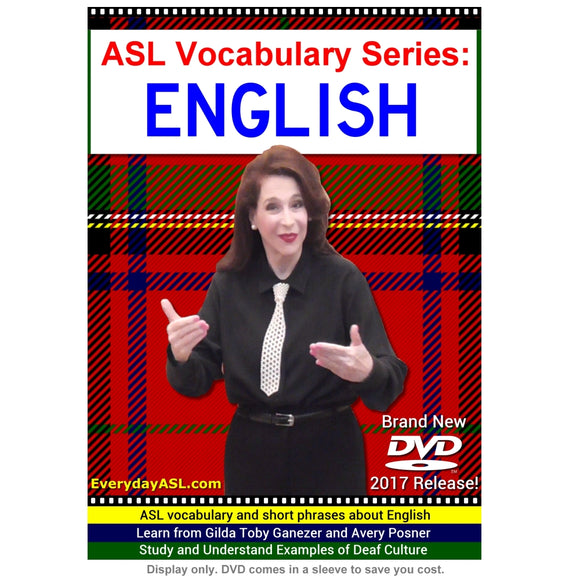 ASL Vocabulary Series: ENGLISH