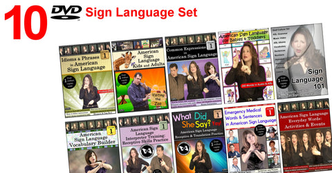 10-DVD Sign Language Set for $50 with free S&H