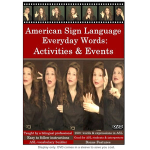 ASL Everyday Words: Activities & Events DVD - FREE S&H