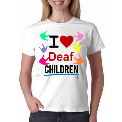 I ❤ Deaf Children Full Color T-Shirt BRAND NEW!