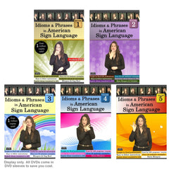 Idioms & Phrases in American Sign Language, Vol. 1-5 (5-DVD Set) with FREE Shipping