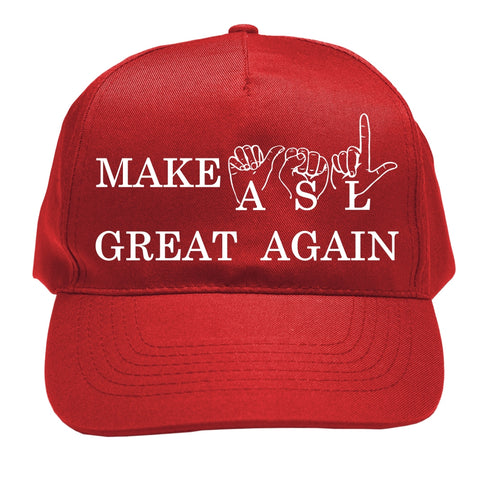 Make ASL Great Again! Red Baseball Cap with free shipping NEW