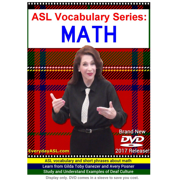 ASL Vocabulary Series: MATH