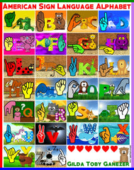 ASL Alphabet for Anyone Poster - Signed by Artist - FREE Ship!