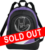 "Purple ASL ""ILY"" Backpack - free S&H!"