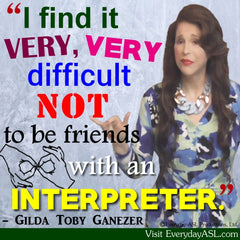 NEW! Difficult NOT to be Friends with ASL Interpreter Poster - Signed by Artist - FREE Ship!