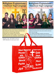 Religious Expressions in ASL - Words and Phrases of the Christian Faith (2-DVDs) with FREE Religious ASL Tote Bag