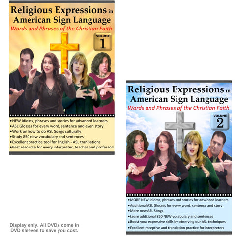 Religious Expressions in American Sign Language - Words and Phrases of the Christian Faith (2-DVDs)
