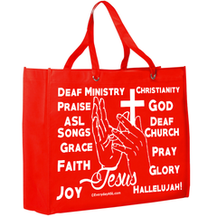 Religious ASL Tote - Love for Jesus is in the bag! - free S&H!