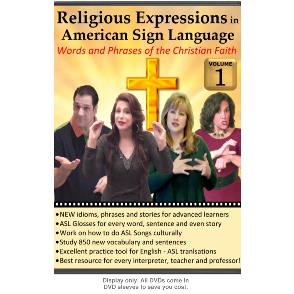 Religious Expressions in ASL - Words and Phrases of the Christian Faith,  Vol  1