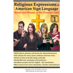 Religious Expressions in ASL - Words and Phrases of the Christian Faith, Vol. 1