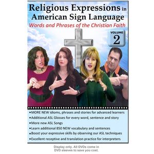 Religious Expressions in ASL - Words and Phrases of the Christian Faith, Vol. 2