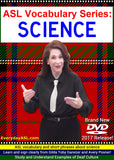 4-DVD Set - ASL Vocabulary Series: SCIENCE, MATH, ENGLISH & SOCIAL STUDIES