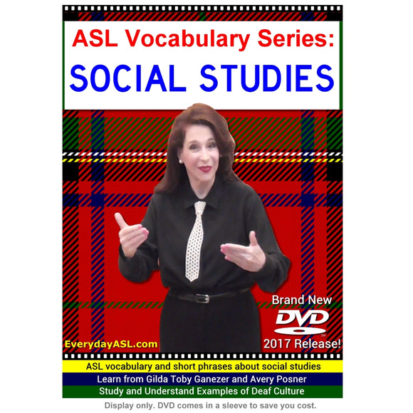 ASL Vocabulary Series: SOCIAL STUDIES