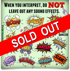 NEW! ASL Interpreting Sound Effects Poster - Signed by Artist - FREE Ship!