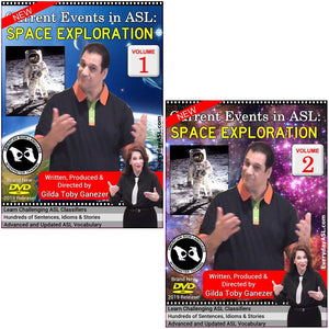 Brand New 2-DVD Set - Current Events in ASL: Space Exploration Vol. 1-2