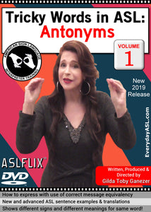 New DVD - Tricky Words in ASL: Antonyms, Vol. 1 with FREE S&H