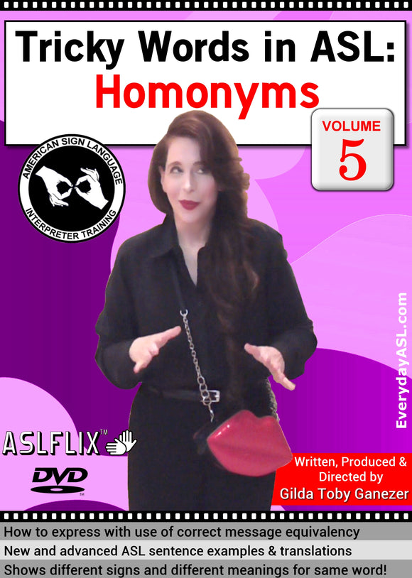 New! Tricky Words in ASL: Homonyms, Vol. 5 with FREE S&H