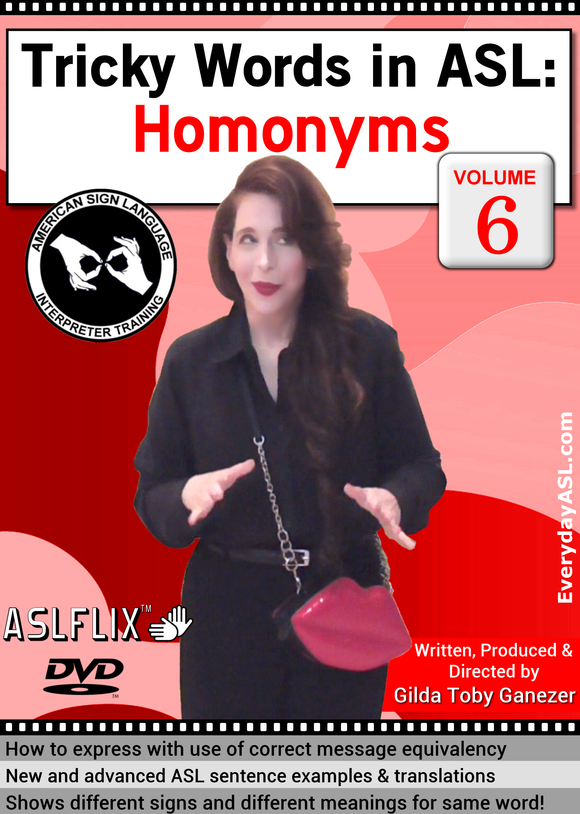 New! Tricky Words in ASL: Homonyms, Vol. 6 with FREE S&H