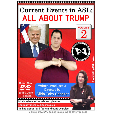 New 2-DVD Set - Current Events in ASL: All About Trump, Vol. 1-2 with FREE s&h
