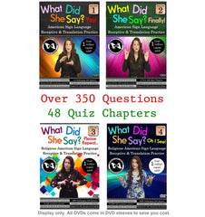 Test Your ASL Skills with our 4-DVD What Did She Say? ASL Receptive Practice & Translation Set