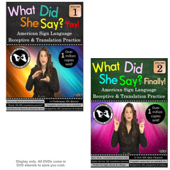 What Did She Say? American Sign Language Receptive Practice & Translation, Vol. 1-2 Set (2-DVDs)